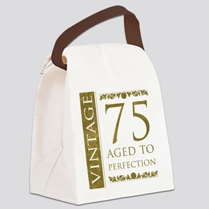 Fancy Vintage 75th Birthday Canvas Lunch Bag