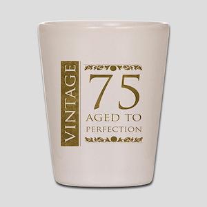 Fancy Vintage 75th Birthday Shot Glass
