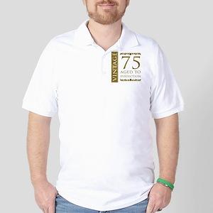 Fancy Vintage 75th Birthday Golf Shirt