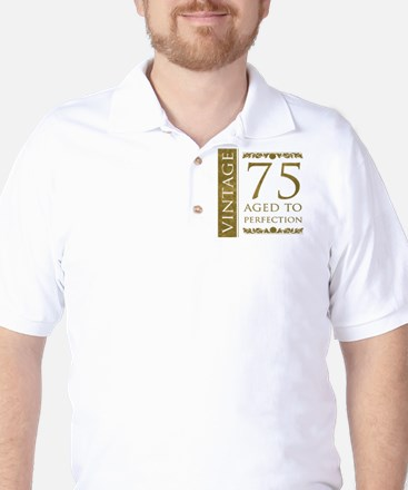 Fancy Vintage 75th Birthday Golf Shirt