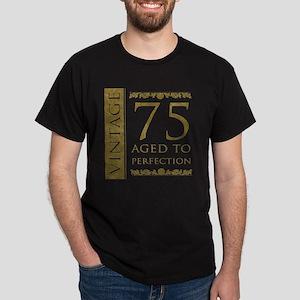 Fancy Vintage 75th Birthday Dark T-Shirt