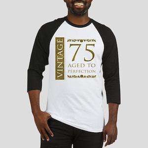 Fancy Vintage 75th Birthday Baseball Jersey