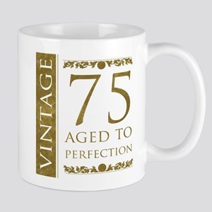 Fancy Vintage 75th Birthday Mug