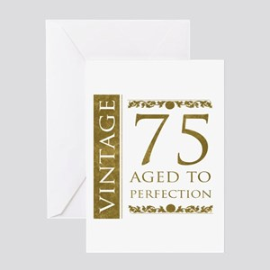Fancy Vintage 75th Birthday Greeting Card