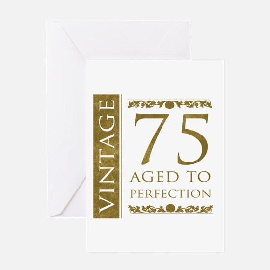 75 years birthday greeting cards cafepress fancy vintage 75th birthday greeting card bookmarktalkfo Image collections