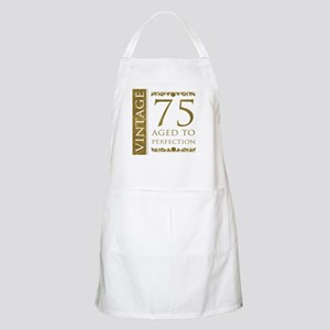 Fancy Vintage 75th Birthday Apron