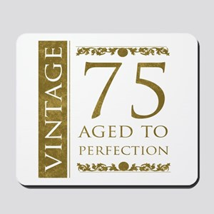 Fancy Vintage 75th Birthday Mousepad