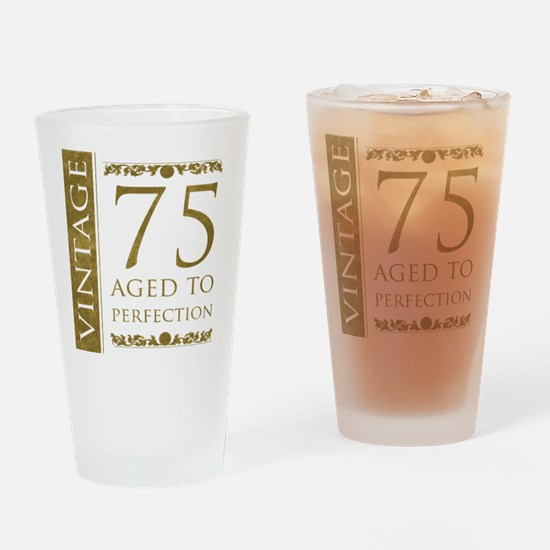 Fancy Vintage 75th Birthday Drinking Glass