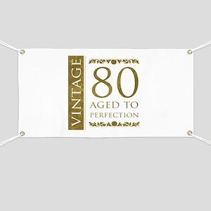 Fancy Vintage 80th Birthday Banner