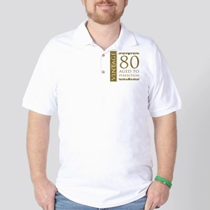 Fancy Vintage 80th Birthday Golf Shirt