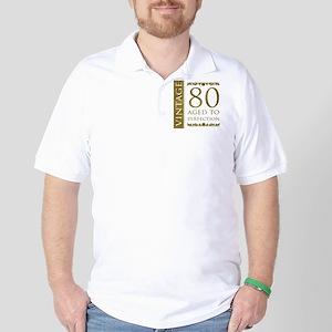 Fancy Vintage 80th Birthday Golf Shirt