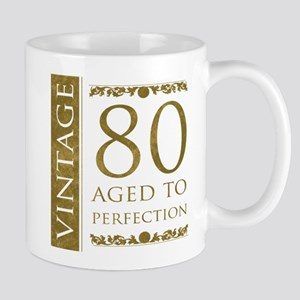 Fancy Vintage 80th Birthday Mug