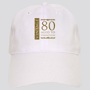 Fancy Vintage 80th Birthday Cap