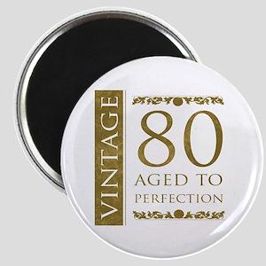 Fancy Vintage 80th Birthday Magnet