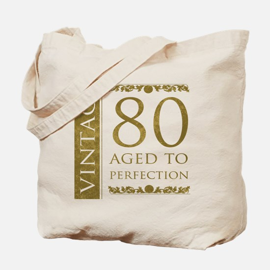 Fancy Vintage 80th Birthday Tote Bag