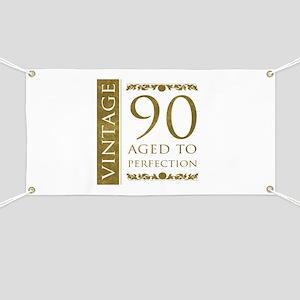 Fancy Vintage 90th Birthday Banner