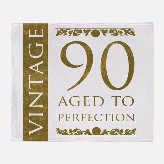 Fancy Vintage 90th Birthday Throw Blanket