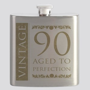 Fancy Vintage 90th Birthday Flask