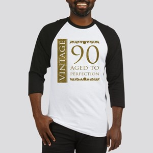 Fancy Vintage 90th Birthday Baseball Jersey
