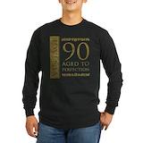 90th birthday Long Sleeve Dark T-Shirts