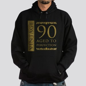 Fancy Vintage 90th Birthday Hoodie (dark)