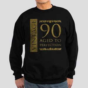 Fancy Vintage 90th Birthday Sweatshirt (dark)