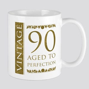 Fancy Vintage 90th Birthday Mug
