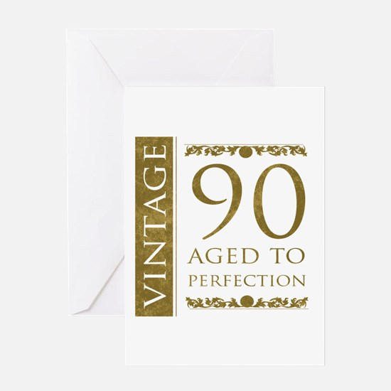 Fancy Vintage 90th Birthday Greeting Card