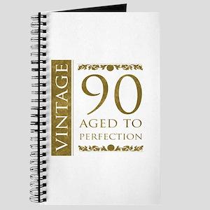 Fancy Vintage 90th Birthday Journal