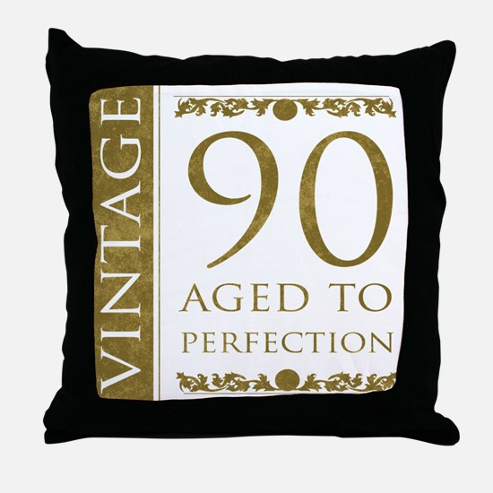 Fancy Vintage 90th Birthday Throw Pillow
