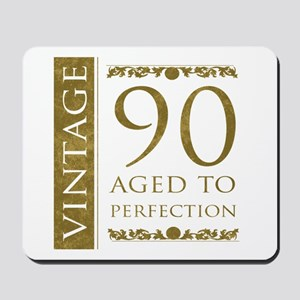 Fancy Vintage 90th Birthday Mousepad