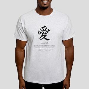 Love in Kanji Light T-Shirt