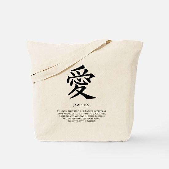 Love in Kanji Tote Bag