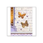 Gold butterflies purple collage Sticker