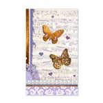 Gold butterflies purple collage Wall Decal