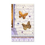 Gold butterflies purple collage Rectangle Car Magn
