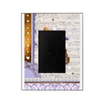 Gold butterflies purple collage Picture Frame