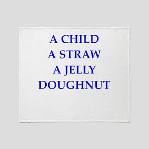 jelly doughnut Throw Blanket