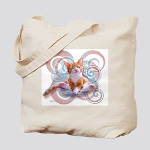 """Neempie"" Tote Bag ~ Strawberry/Blueberry Swirl"