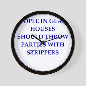 glass houses Wall Clock