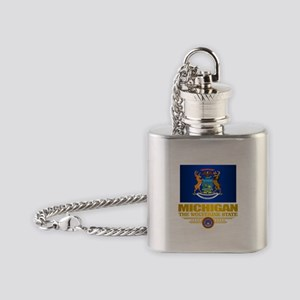 Michigan Pride Flask Necklace