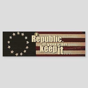 A Republic Bumper Sticker