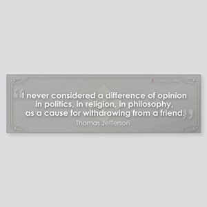 A Difference of Opinion Bumper Sticker