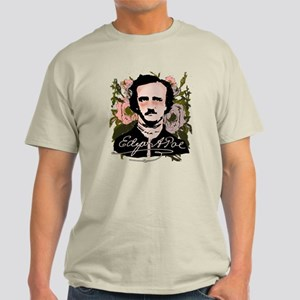 Edgar Allan Poe with Faded Roses Light T-Shirt