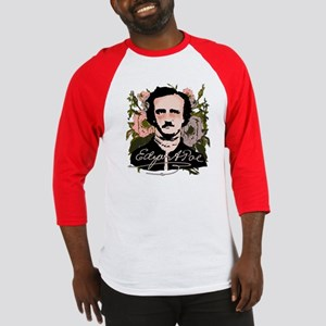 Edgar Allan Poe with Faded Roses Baseball Jersey