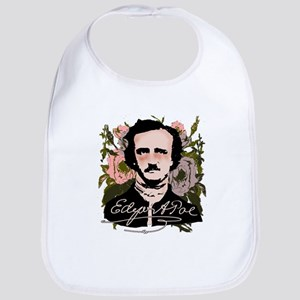 Edgar Allan Poe with Faded Roses Bib