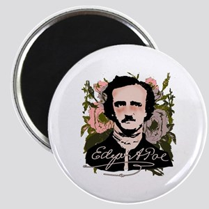 Edgar Allan Poe with Faded Roses Magnet