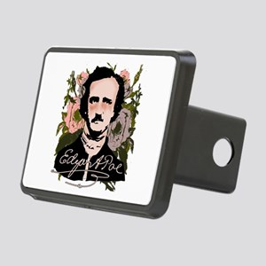 Edgar Allan Poe with Faded Roses Rectangular Hitch
