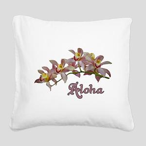 Aloha Flowers Square Canvas Pillow