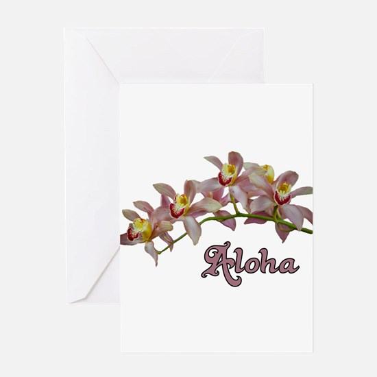 Aloha Flowers Greeting Card